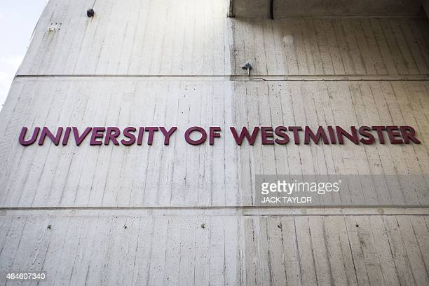 A general view of signage at the Cavenish campus of the University of Westminster on February 27 where Kuwaitiborn London computer programmer...