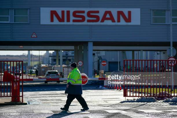 A general view of signage at the Sunderland car assembly plant of Nissan on February 04 2019 in Sunderland England Nissan has announced to workers...