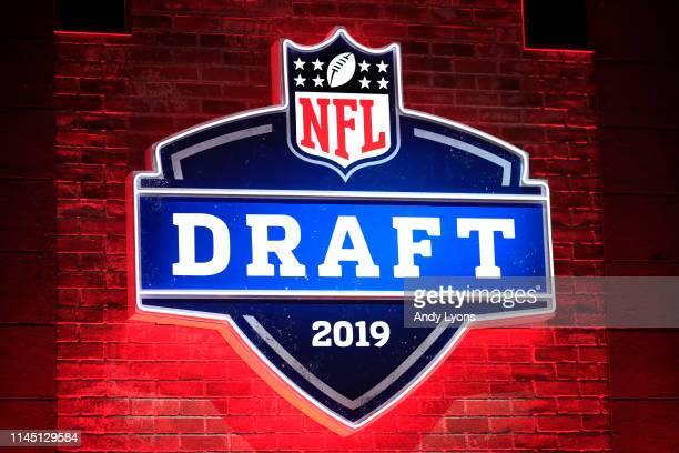 A general view of signage during the first round of the 2019 NFL Draft on April 25 2019 in Nashville Tennessee