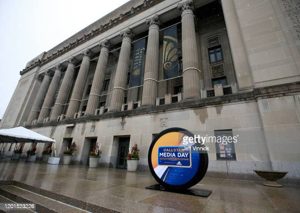 A general view of signage is seen prior to the start of the 2020 NHL AllStar Weekend festivities on January 23 2020 in St Louis Missouri