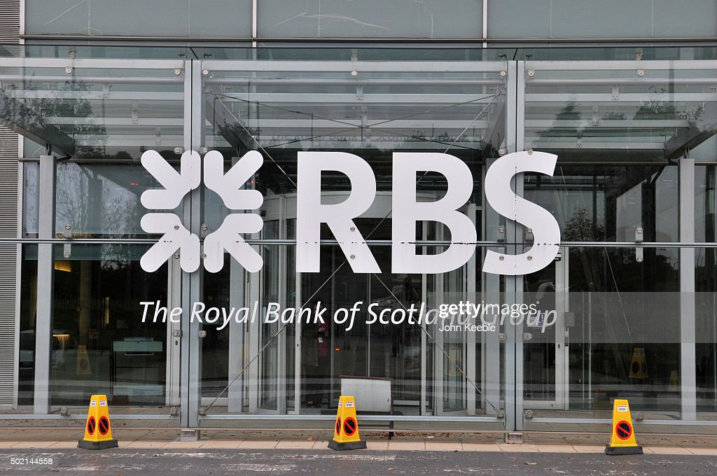 A general view of signage of RBS Royal Bank of Scotland group on October 13, 2015 in Southend on Sea.