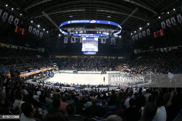A general view of Sinan Erdem Dome during the 2017/2018 Turkish Airlines EuroLeague Regular Season Round 8 game between Anadolu Efes Istanbul and...