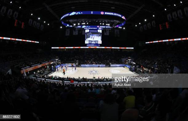 A general view of Sinan Erdem Dome during the 2017/2018 Turkish Airlines EuroLeague Regular Season game between Anadolu Efes Istanbul and AX Armani...