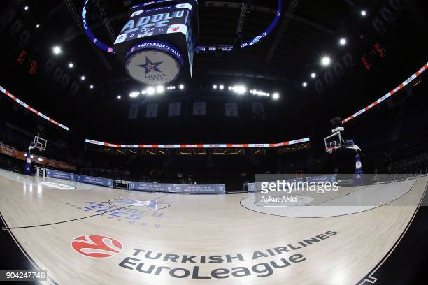 A general view of Sinan Erdem Dome during the 2017/2018 Turkish Airlines EuroLeague Regular Season Round 17 game between Anadolu Efes Istanbul and...