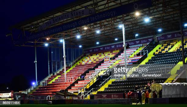 A general view of Sincil Bank home of Lincoln City FC prior to the EFL Checkatrade Trophy Northern Section Group G match between Lincoln City and...