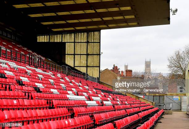 A general view of Sincil Bank home of Lincoln City prior to the Sky Bet League Two match between Lincoln City and Yevoil Town at Sincil Bank Stadium...