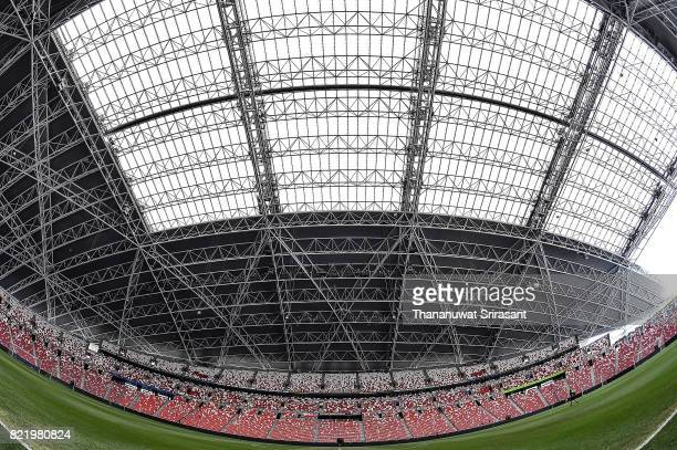 A general view of Singapore National Stadium before the International Champions Cup match between Chelsea FC and FC Bayern Munich at National Stadium...