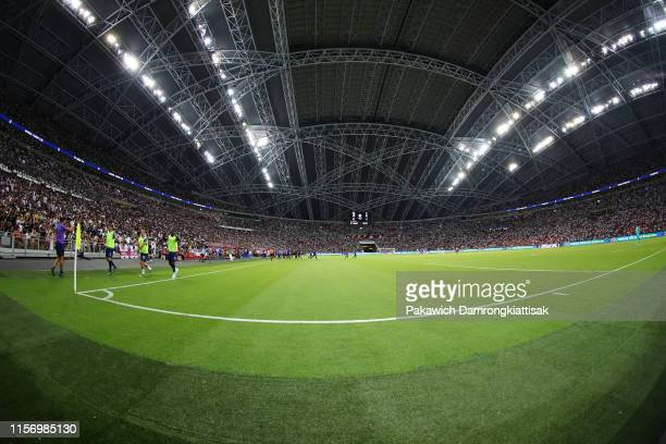 General view of Singapore National Stadium during the International Champions Cup match between Juventus and Tottenham Hotspur at the Singapore...