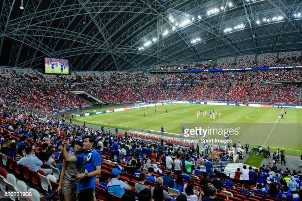 A general view of Singapore National Stadium during the International Champions Cup 2017 match between FC Internazionale and Chelsea FC on July 29...