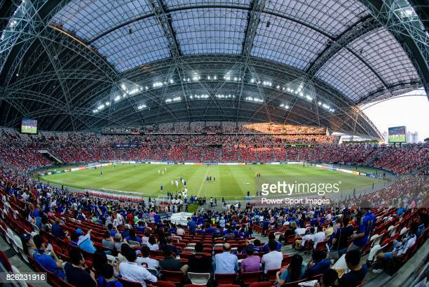 General view of Singapore National Stadium during the International Champions Cup 2017 match between FC Internazionale and Chelsea FC on July 29,...