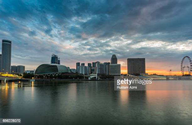 General View of Singapore Skyline at Sunrise on September 18, 2016 in Singapore, Singapore.