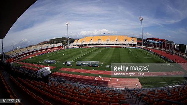 A general view of Sir John Guise Stadium before the Group C match in the FIFA U20 Women's World Cup Papua New Guinea 2016 between Ghana and the...