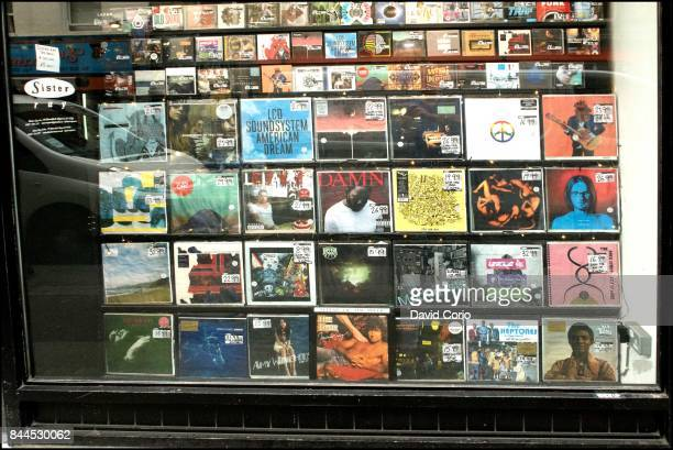 General view of Sister Ray record shop Berwick Street Soho London UK on 4 September 2017
