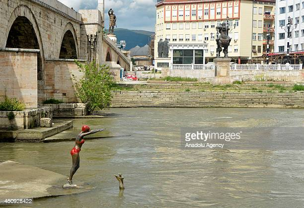 """General view of Skopje, Macedonia, on June 20, 2014 as part of """"Skopje 2014"""" project which aim to give more classical appeal to the destroyed city by..."""