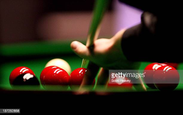 General view of snooker balls during day three of the The Masters at Alexandra Palace on January 17, 2012 in London, England.