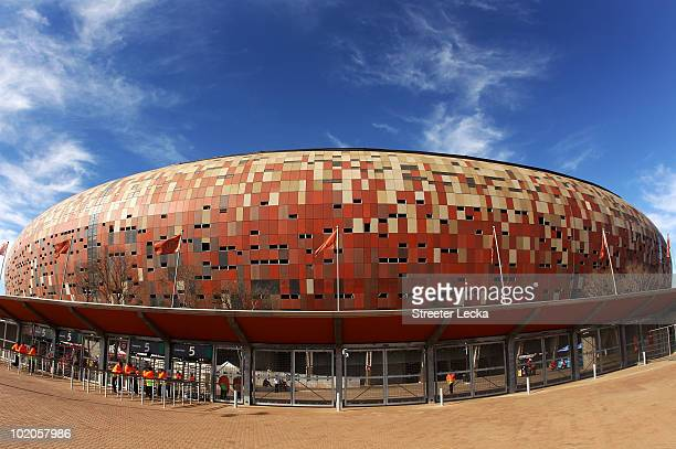 General view of Soccer City Stadium ahead of the 2010 FIFA World Cup Group E match between Netherlands and Denmark at Soccer City Stadium on June 14,...