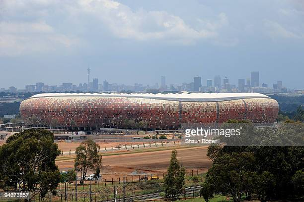 General view of Soccer City Stadium during the FIFA 2010 World News Agency Tour on December 13, 2009 in Johannesburg, South Africa.