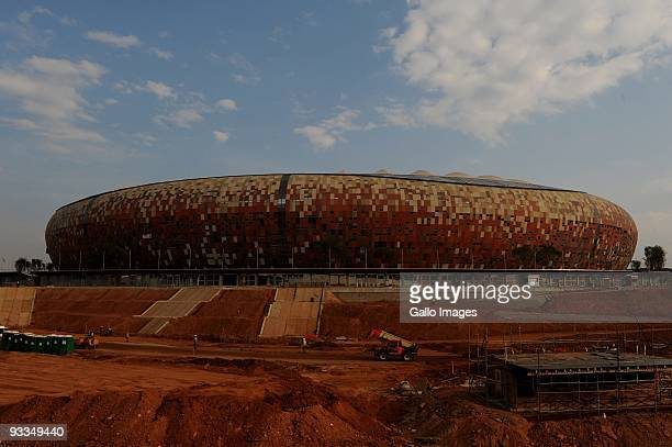 General view of Soccer City Stadium during the FIFA Inspection on September 30, 2009 in Johannesburg, South Africa.