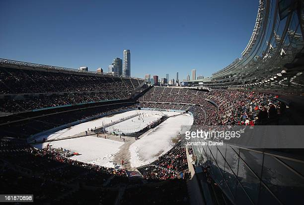 A general view of Soldier Field during the Hockey City Classic on February 17 2013 in Chicago Illinois