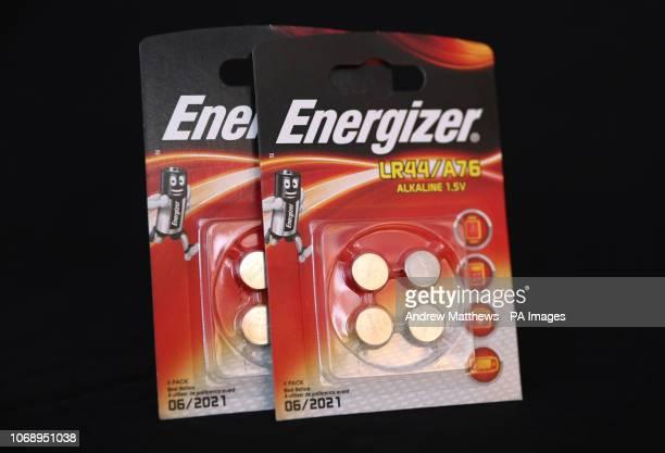General view of some Energizer LR44/A76 Alkaline 15v batteries
