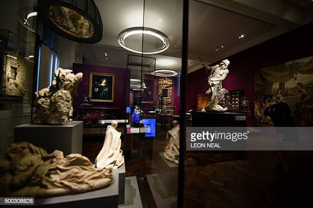 A general view of some of the exhibits within the Victoria and Albert museum's new '16001815' galleries in London on December 7 2015 The VA's seven...