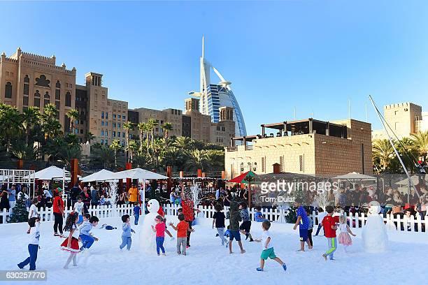 General view of Souk Festive Market at Madinat Jumeira on December 19 2016 in Dubai United Arab Emirates