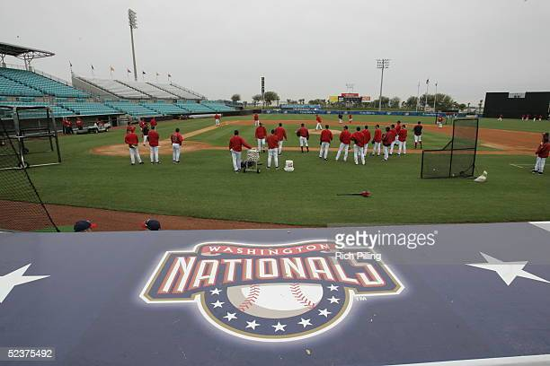 General View of Space Coast Stadium spring training home of the Washington Nationals on March 3 2005 in Viera Florida The Nationals defeated...