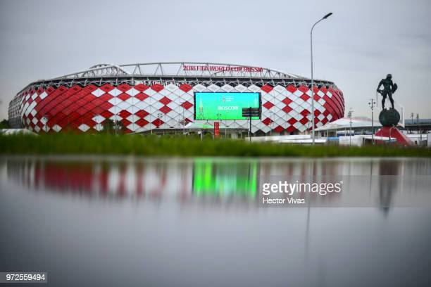 General view of Spartak Stadium ahead of the 2018 FIFA World Cup on June 10 2018 in Moscow Russia