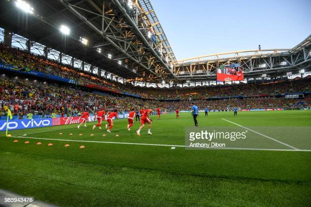 General view of Spartak Stadium during the FIFA World Cup Group E match between Serbia and Brazil on June 27 2018 in Moscow Russia