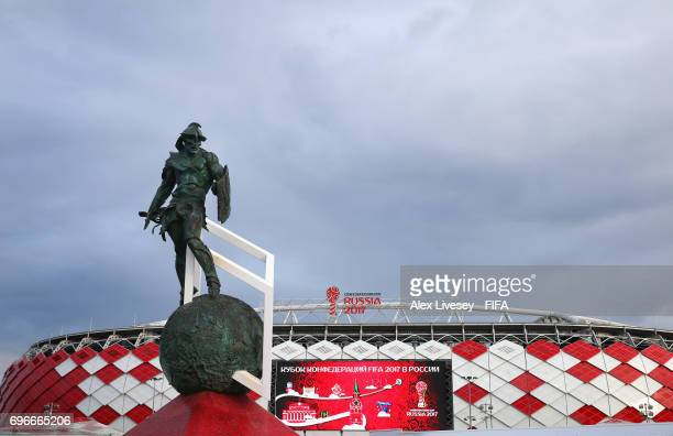 A general view of Spartak Stadium is seen ahead of the FIFA Confederations Cup Russia 2017 on June 16 2017 in Moscow Russia