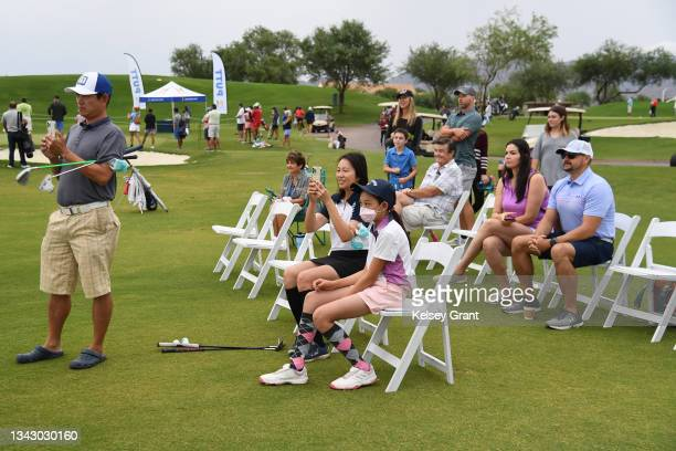 General view of spectators during the 2021 Drive, Chip and Putt Regional Qualifier at TPC Scottsdale on September 26, 2021 in Scottsdale, Arizona.