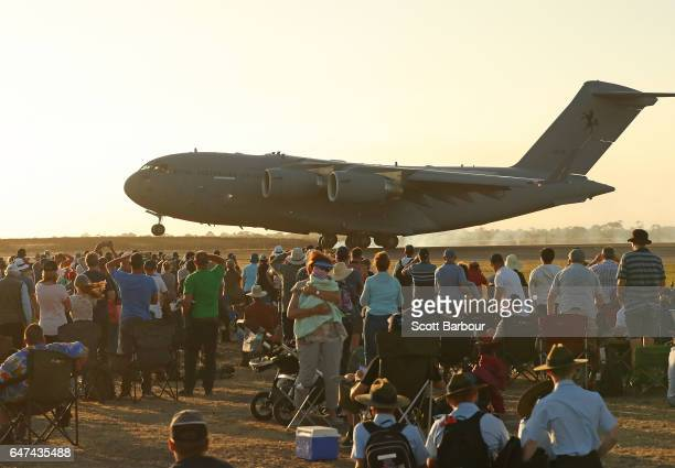 A general view of spectators in the crowd viewing aircraft on display at The Australian International Airshow on March 3 2017 in Avalon Australia