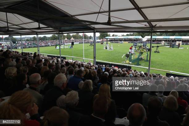 General view of spectators watches the show jumping during Day Four of The Land Rover Burghley Horse Trials 2017 on September 2 2017 in Stamford...