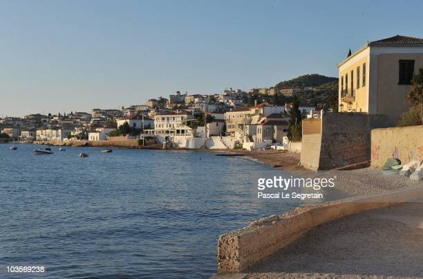General view of Spetses before the Greek royal wedding on August 24 2010 in Spetses Greece The small Greek Island three hours from Athens is gearing...