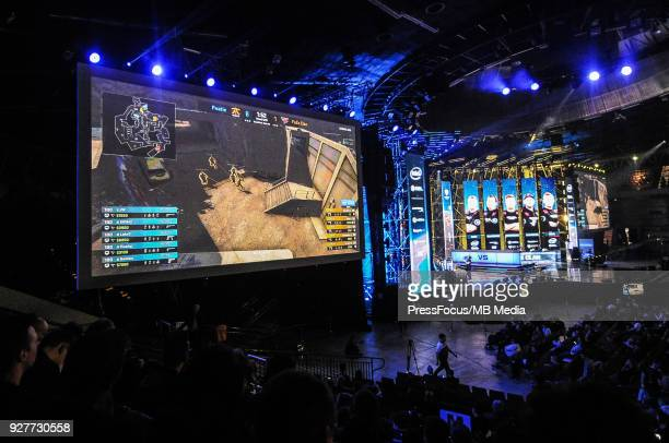 General view of Spodek Arena during CounterStrike Global Offensive final game between FaZe Clan and Fnatic on March 4 2018 in Katowice Poland
