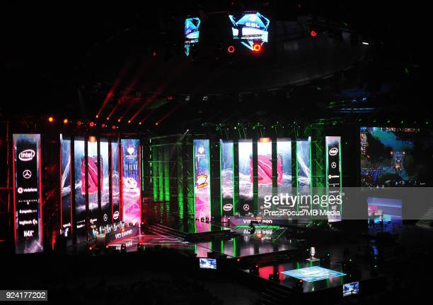 General view of Spodek Arena during Dota 2 Major Final match between Vici Gaming and Virtuspro on February 25 2018 in Katowice Poland
