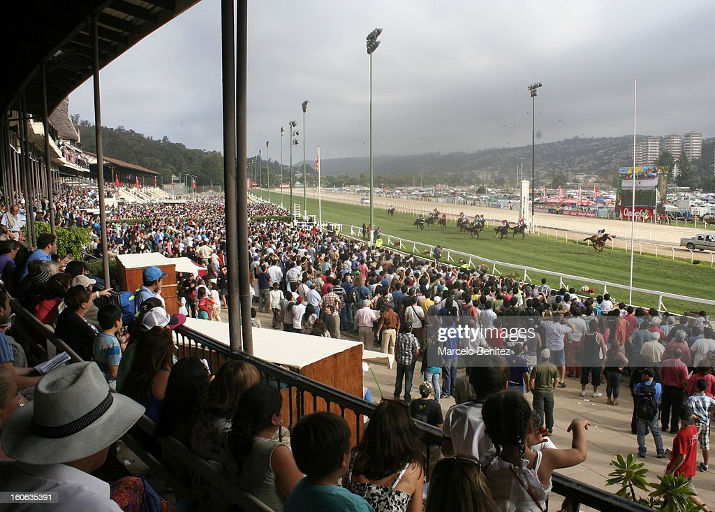 General view of Sporting Club during the Derby 2013 on February 03 in Viña del Mar, Chile.
