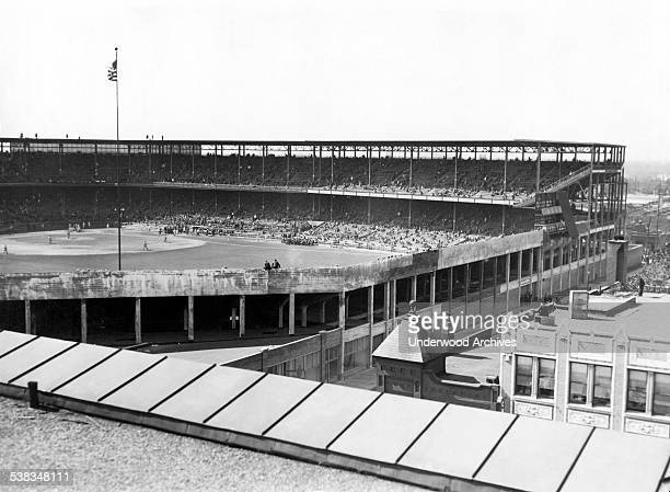 A general view of Sportsman's Park where the Cardinals lost the fourth game of the World Series to the NY Yankees St Louis Missouri October 6 1926...