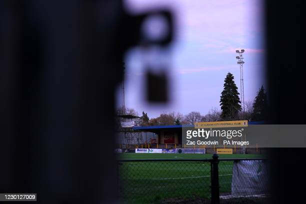 General view of St Albans Citys ground, Clarence Park.