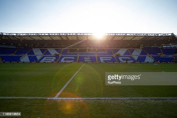 General view of St Andrews ground ahead of the Sky Bet Championship match between Birmingham City and Millwall at St Andrews, Birmingham on Saturday...