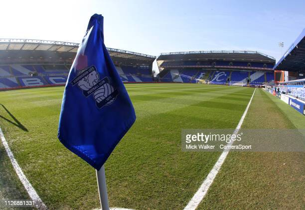 A general view of St Andrews Stadium the home of Birmingham City at St Andrew's Trillion Trophy Stadium on February 23 2019 in Birmingham England