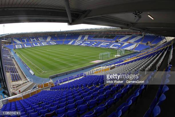 General view of St Andrews Stadium the home of Birmingham City during the Sky Bet Championship match between Birmingham City and Leeds United at St...
