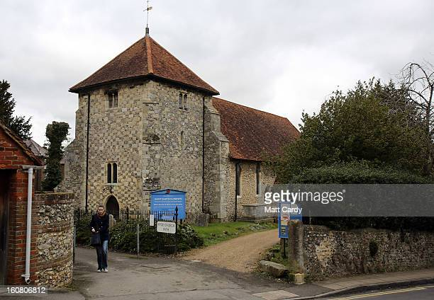 A general view of St Bartholomew Church where Alfred The Great is believed to be buried on February 6 2013 in Winchester England King Alfred lived...