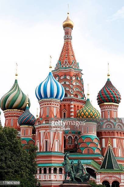 A general view of St Basil's Cathedral ahead of the 14th IAAF World Athletics Championships on August 6 2013 in Moscow Russia