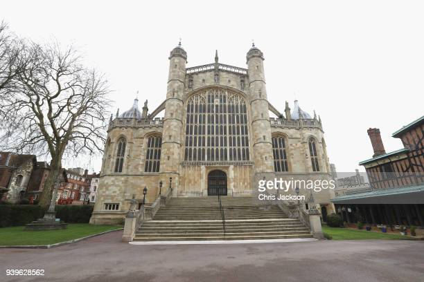 A general view of St George's Chapel ahead of the Royal Maundy Service on March 29 2018 in Windsor England