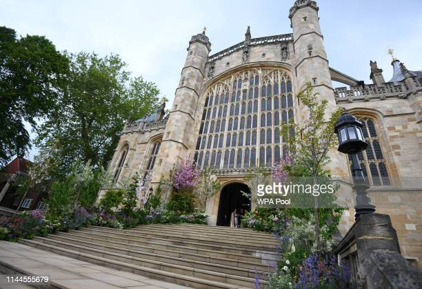 A general view of St George's Chapel during the wedding of Lady Gabriella Windsor to Thomas Kingston at St George's Chapel Windsor Castle on May 18...