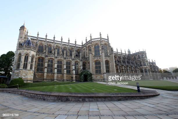 General view of St George's Chapel, Windsor Castle ahead of the wedding of Prince Harry to Ms Meghan Markle at St George's Chapel, Windsor Castle on...