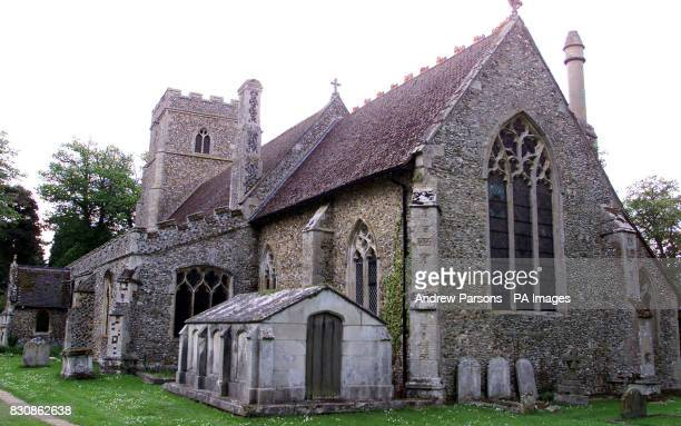General View of St George's Church Shimpling Suffolk It is Rumoured that Claudia Schiffer and her Fiance film Producer Matthew Vaughn are due to get...