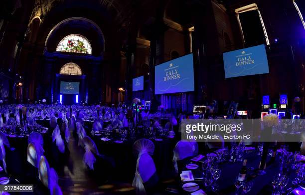 A general view of St George's Hall before the Everton in the Community Gala Dinner at St George's Hall on February 13 2018 in Liverpool England