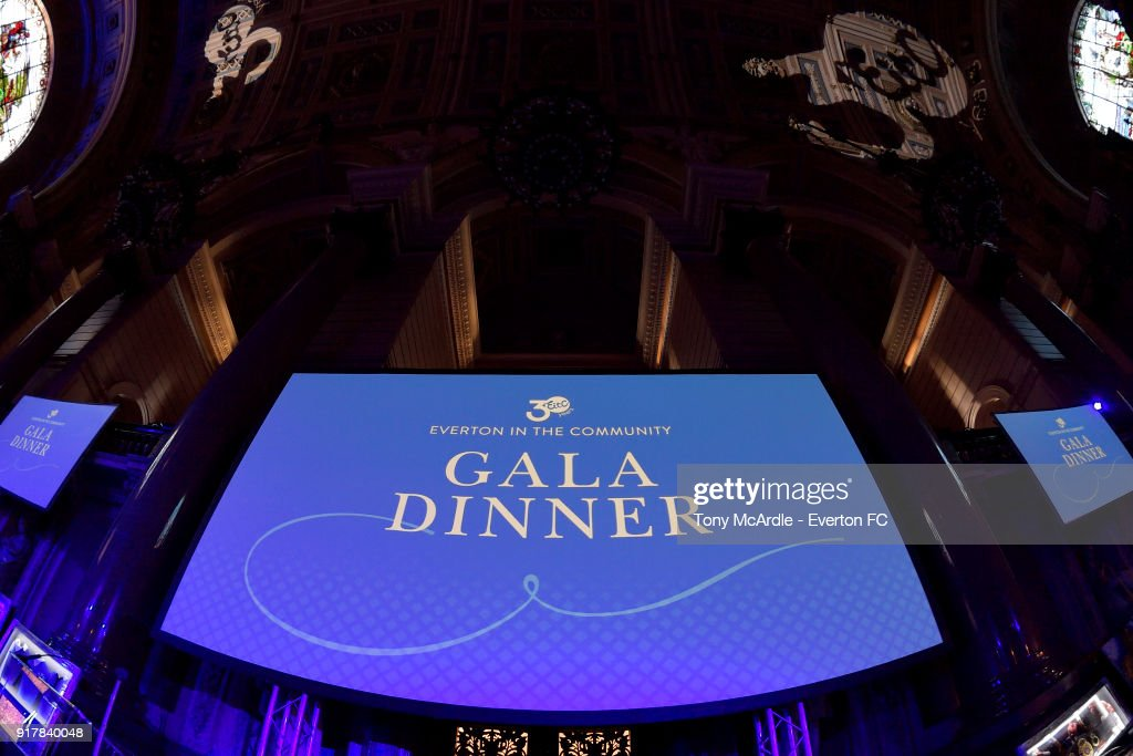 A general view of St George's Hall before the Everton in the Community Gala Dinner at St George's Hall on February 13, 2018 in Liverpool, England.